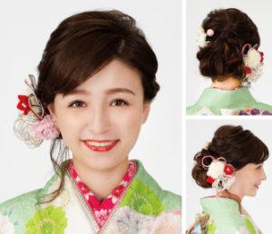 小ワザ効いたゆるふわ後れ毛が髪飾りを華やかに♪