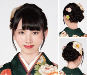 三編みが美しいバックスタイル♪はんなりキレイ!